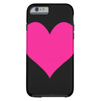 Cute Deep Pink Heart Tough iPhone 6 Case
