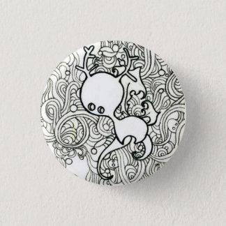 Cute deer 3 cm round badge