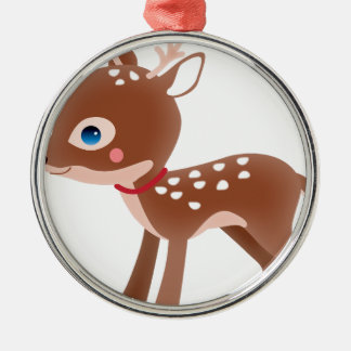 Cute Deer Graphic Christmas Ornament