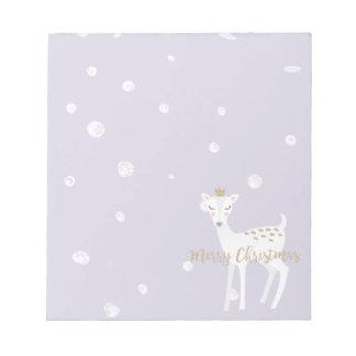 Cute Deer | Lilac | Christmas Notepad
