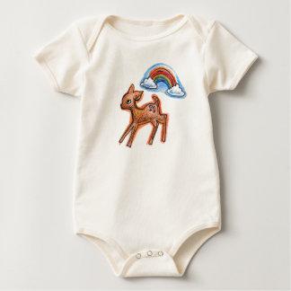 cute deer organic baby creeper