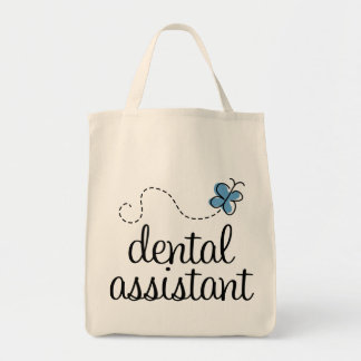 Cute Dental Assistant Grocery Tote Bag