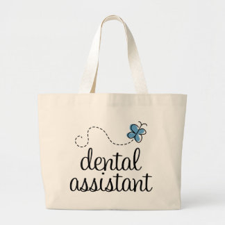 Cute Dental Assistant Large Tote Bag
