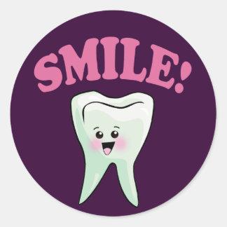 Cute Dental Hygienist Round Sticker