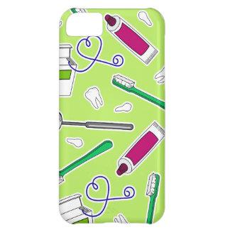 Cute Dentist / Dental Hygienist Love Green Purple iPhone 5C Case