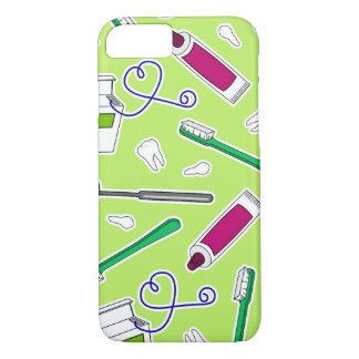 Cute Dentist / Dental Hygienist Love Green Purple iPhone 7 Case