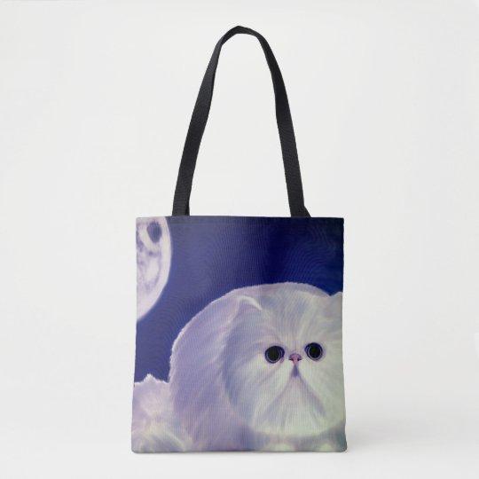 Cute design fatty kitten tote bags