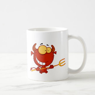 Cute Devil Basic White Mug