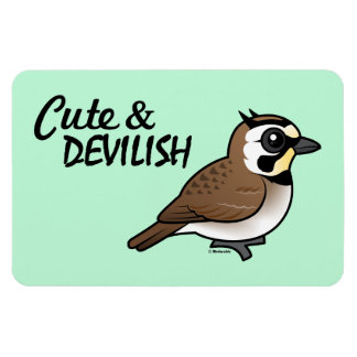 Cute & Devilish Rectangular Photo Magnet