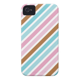 Cute Diagonal Thick Stripes Custom iPhone 4 Covers