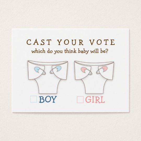 Cute Diaper Gender Reveal Cast Your Vote Ticket