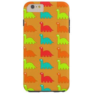 Cute Dino Pattern Walking Dinosaurs Tough iPhone 6 Plus Case