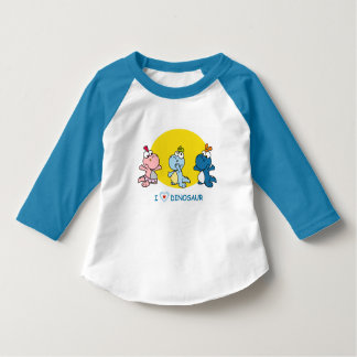 Cute Dino shirt for kids with 3/4 sleves