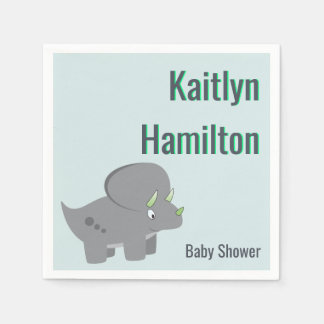 Cute Dinosaur   Baby Shower To Honor the New Mom Paper Napkin