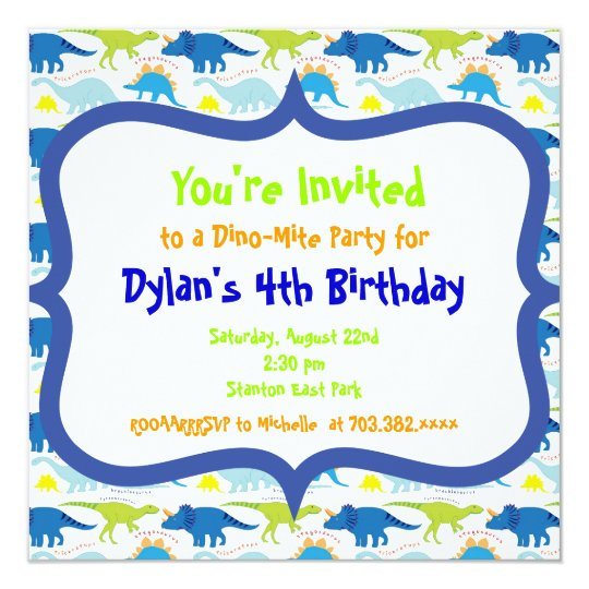 Cute dinosaur birthday party invitation templates zazzle cute dinosaur birthday party invitation templates stopboris Image collections