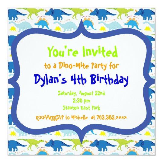 Cute Dinosaur Birthday Party Invitation Templates | Zazzle.co.uk