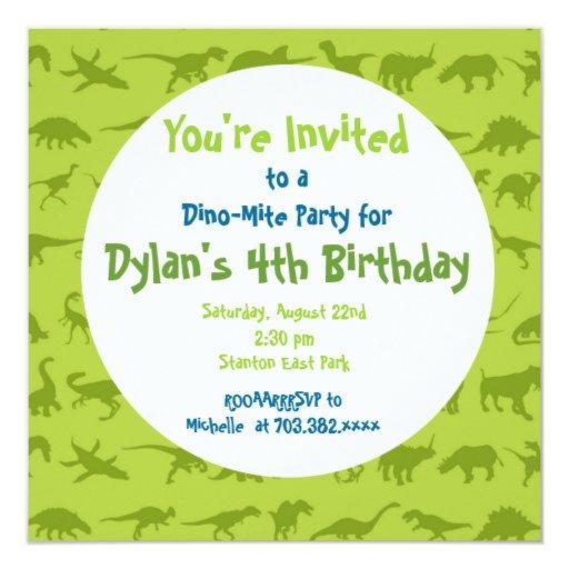Cute Dinosaur Birthday Party Invitation Templates  Zazzle