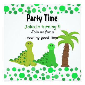 Cute Dinosaur Birthday Party Invitations