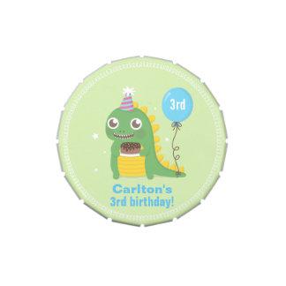 Cute Dinosaur Birthday Party Treats Candy Tins
