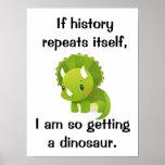 Cute Dinosaur History Poster