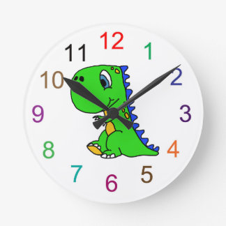 Cute Dinosaur Kids Wall Clock