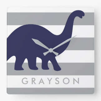 Cute Dinosaur Nursery Wall Clock - Dinosaur Baby