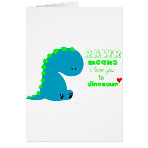 Cute Dinosaur RAWR Cards