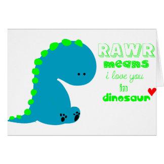 Cute Dinosaur RAWR Greeting Card