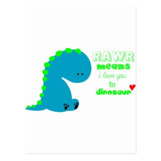 Cute Dinosaur RAWR Postcards