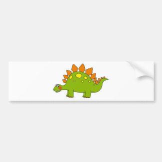 Cute dinosaur - stegosaurus bumper sticker