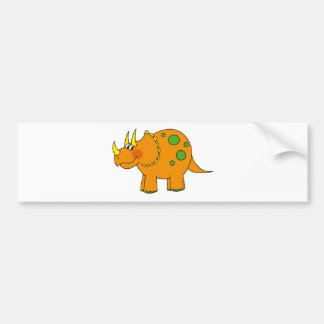 Cute dinosaur - triceratops bumper sticker