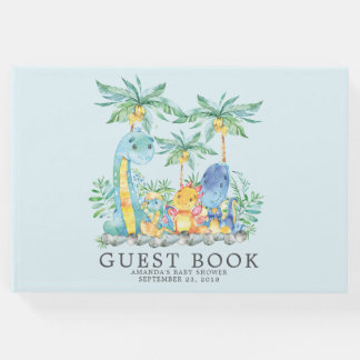 Cute Dinosaurs Baby Shower Guest Book