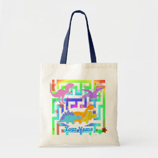 Cute Dinosaurs Color Maze Gift Bag