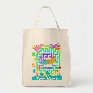 Cute Dinosaurs in Color Maze Toy Bag
