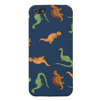 Cute Dinosaurs Pattern Cover For iPhone 5/5S