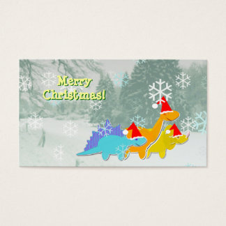 Cute Dinosaurs Small Christmas Greetings Cards