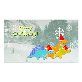 Cute Dinosaurs Small Christmas Greetings Cards Pack Of Standard Business Cards