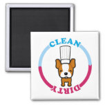 Cute Dirty Clean Magnet for dishwasher
