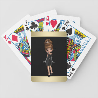 Cute Diva Princess Bicycle Playing Cards