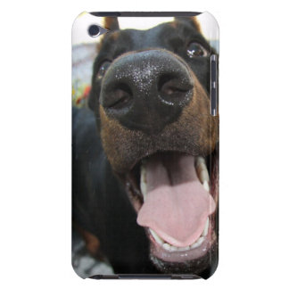 Cute doberman iPod touch case