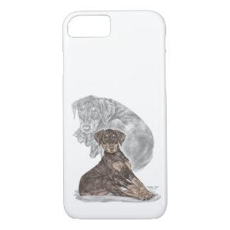 Cute Doberman Pinscher Puppy iPhone 8/7 Case