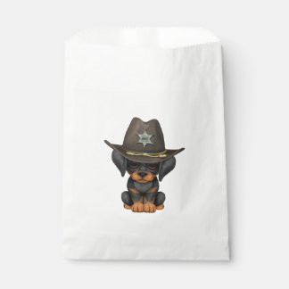 Cute Doberman Puppy Dog Sheriff Favour Bags