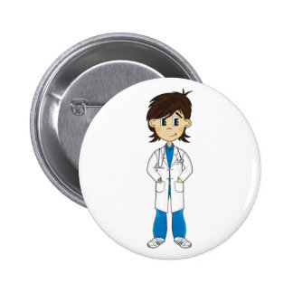 Cute Doctor Character Badge