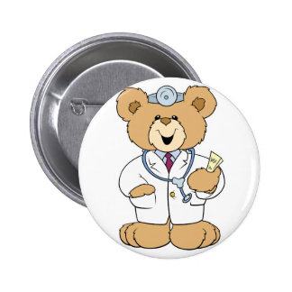 Cute Doctor Teddy Bear 6 Cm Round Badge