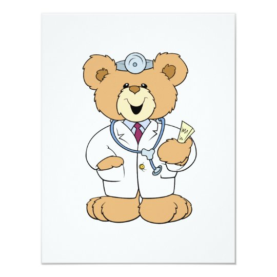 Cute Doctor Teddy Bear Card