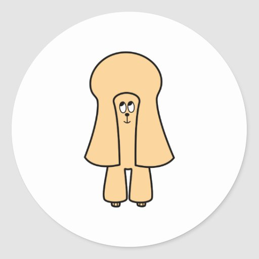 Cute Dog. Apricot Toy Poodle / Miniature Poodle. Round Sticker