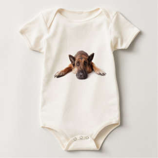 Cute dog baby bodysuit