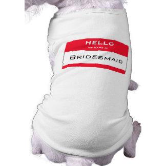 Cute Dog Bridesmaid Dog Tank Top