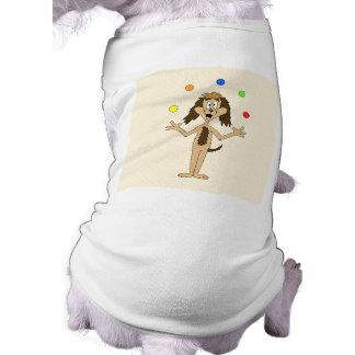 Cute Dog Cartoon Juggler Dog Tee Shirt