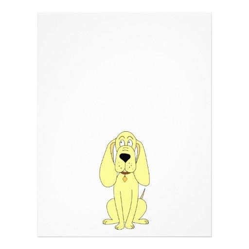 Cute Dog Cartoon. Yellow Hound. Flyer Design